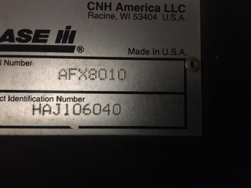 2005 Case IH 8010, 1425 Sep Hr, RWA, FT, RT, Bin Ext, Dlx Cab Combine For Sale