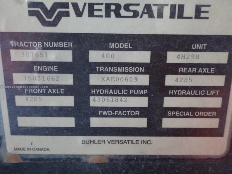 2014 Versatile 400, 1130 Hr, Lux Cab, Hi Cap Hyd Pump, Weights Tractor For Sale