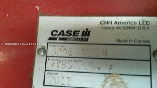 2011 Case IH 3206, 6R30, Fits 8010/8120/8230/8240, HHC, Knife Header-Corn For Sale