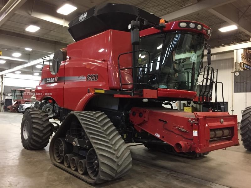 "2009 Case IH AF8120, 1228 Sep Hr, RWA, 36"" Trks, RT, FT Combine For Sale"