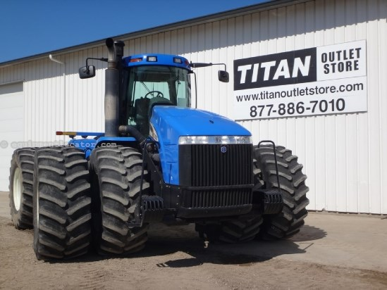 new holland tj500 ps trans 4 remotes weights leather tractor for sale
