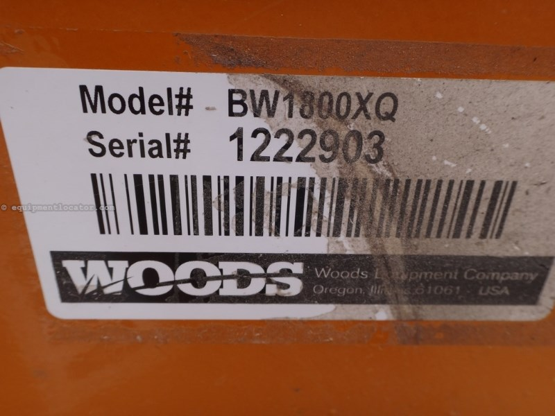 Woods BW1800Q, 15', Wing, 1000 PTO, Chain Safety Guards Rotary Cutter For Sale