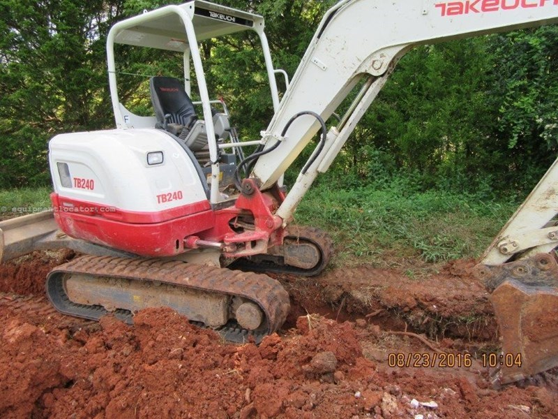 2015 Takeuchi TB240 Excavator-Mini For Sale or Rent at