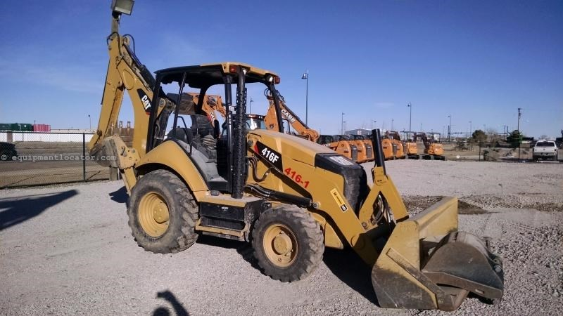 2015 Caterpillar 416F, ROPS Cab, 4x4, Extended Hoe, 2 Lever Control Loader Backhoe For Sale