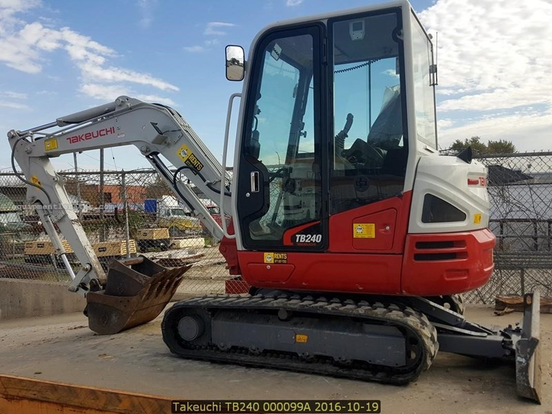 2014 Takeuchi TB240 Excavator-Mini For Sale or Hire at