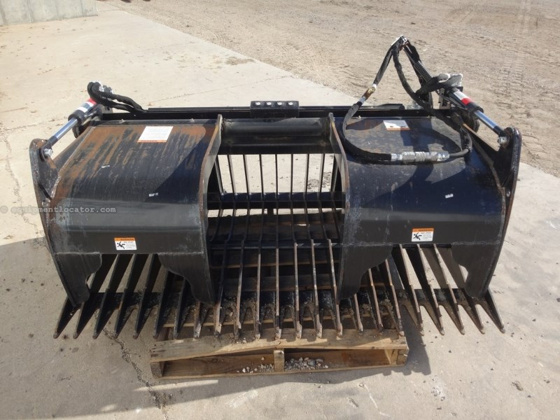 Berlon SKLGR-72 Rock Bucket w/Grapple Skid Steer Bucket For Sale