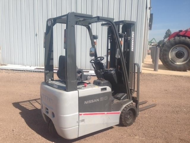 2013 Nissan TX30N, 15' mast height, Electric drive Lift Truck/Fork Lift-Rough Terrain For Sale