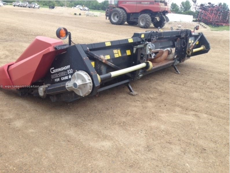 2000 Geringhoff RD830, 7120/7230/8230, Fluted Rolls, Hyd Dk Plate Header-Corn For Sale