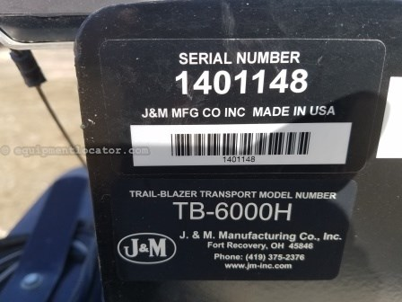 2014 J & M TB-6000H-32, 15700 Lb Carry Capacity, 41' Overall  Header Trailer For Sale