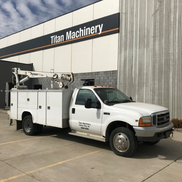 1999 Ford F450, Crane, Air compressor, Outriggers Service Truck For Sale