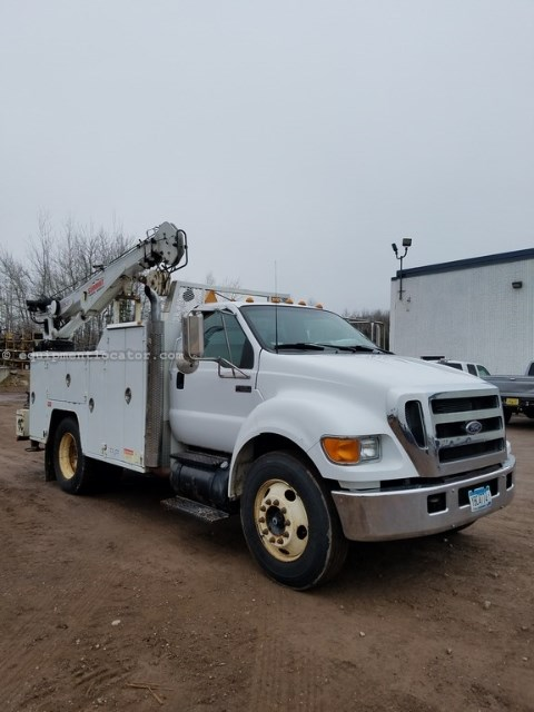 2006 Ford F650, 193762 Mi, Diesel, PTO, Leaf Suspension Service Truck For Sale