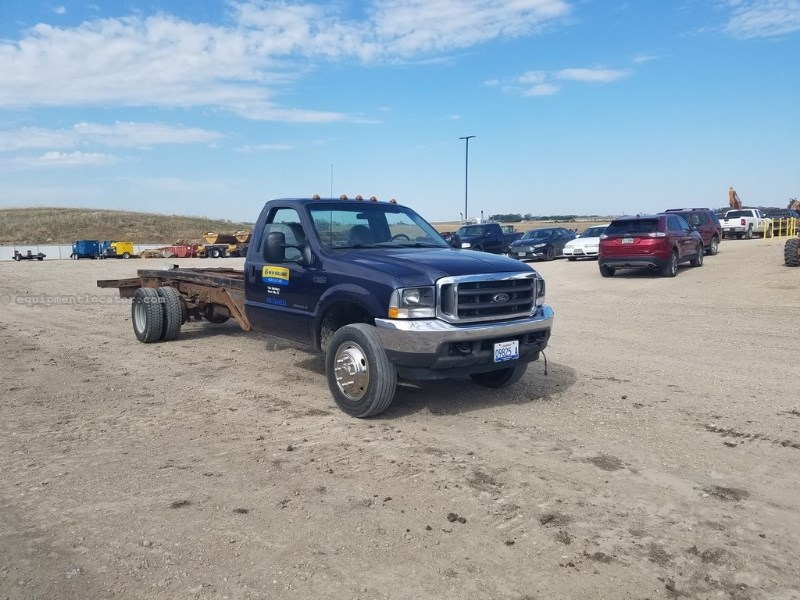 2002 Ford F550, 100421 Mi, Ford Power Stroke 7.3 Eng, 6 Spd Roll Off Truck For Sale