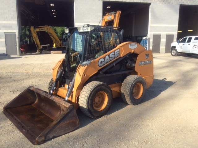 2014 Case SV250, 453 Hrs, Heat, Mech Cplr, E-H Hand Controls Skid Steer For Sale