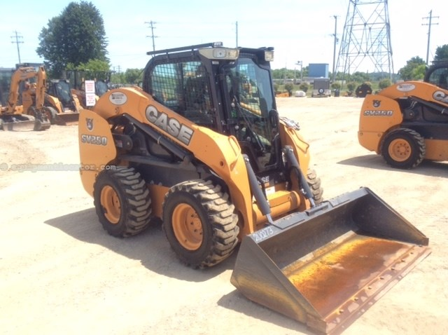 2014 Case SV250, 507 Hrs, Heat, Mech Cplr, E-H Hand Controls Skid Steer For Sale