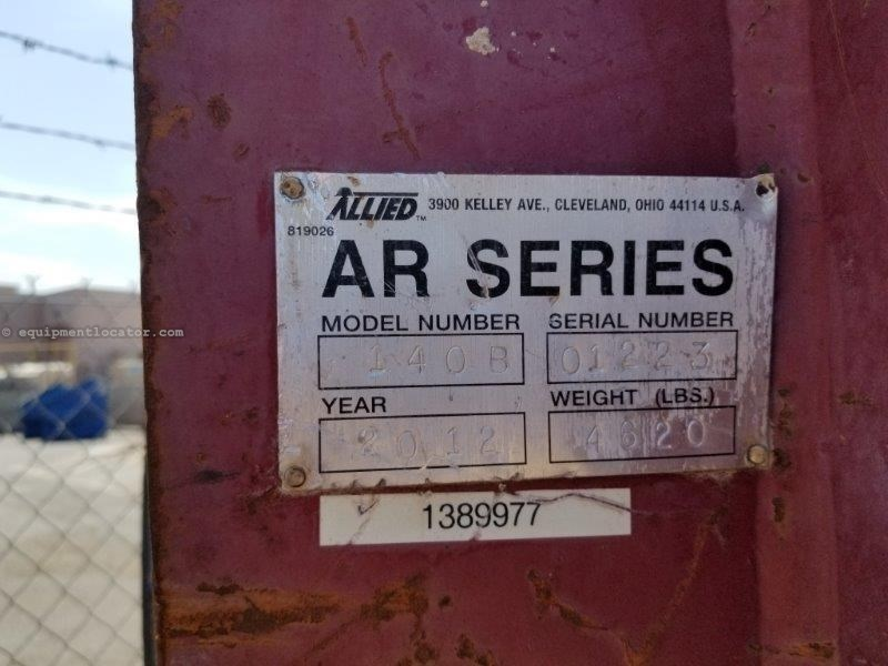 """2012 Allied AR140, Hyd, 5.51"""" Tool Diam, 45-53 gpm Required Excavator Attachment For Sale"""