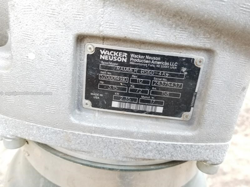 2017 Wacker BS60-4AS, 158#, Wac-Neu WM 100 Motor,680 Blows/Min Vibratory Plate For Sale