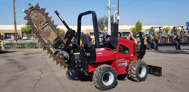 """2015 Toro RT600, 253 Hrs, 48"""" Dig Depth, Knock-Down Blade Trencher-Rubber Tires For Sale"""