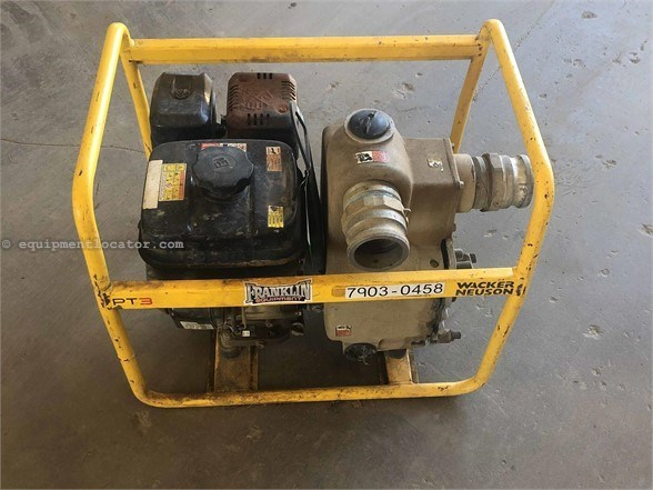 2016 Wacker PT3 Water Pump For Sale