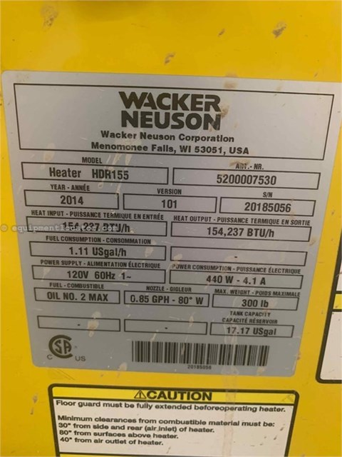 2016 Wacker HDR155 Miscellaneous For Sale