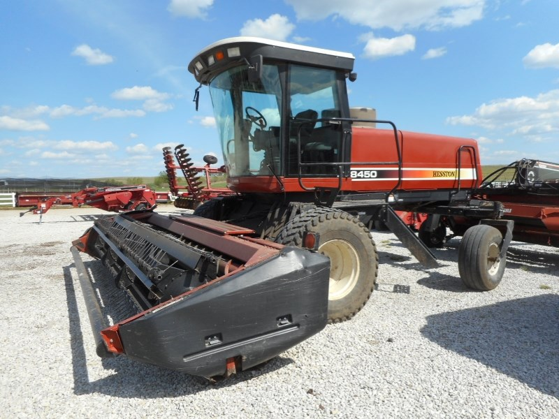 1999 Hesston 8450-16 Windrower-Self Propelled For Sale at